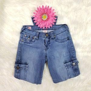 "True Religion ""Krista"" Cargo Blue jeans, size 27"